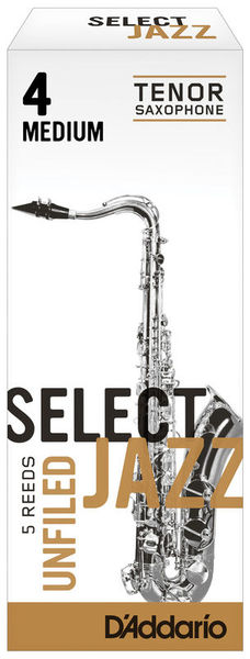 Select Jazz Unfiled Tenor 4M DAddario Woodwinds
