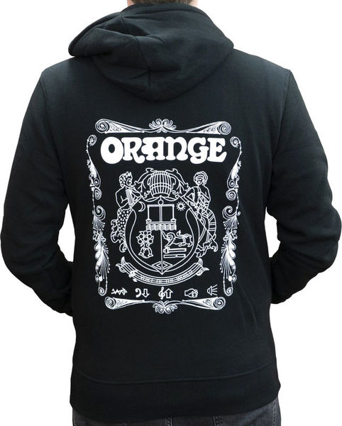 Hoody Logo Black L Orange