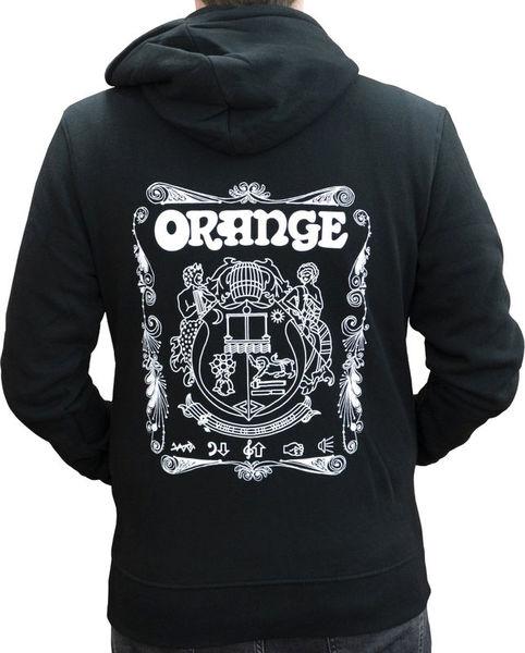 Hoody Logo Black S Orange