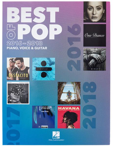 Hal Leonard Best Of Pop 2016-2018 PVG