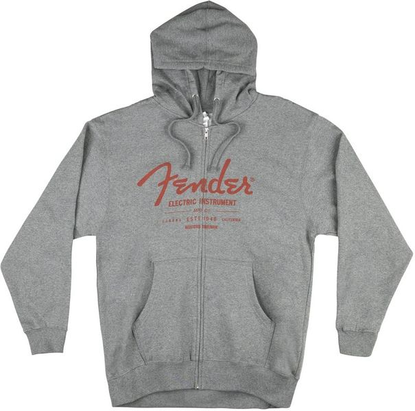 Hoody with Zipper Grey S Fender
