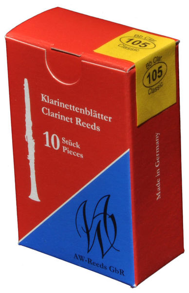 105 German Clarinet 3,5 AW Reeds