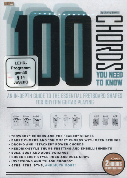 Guitar World 100 Chords you need to know – Thomann UK