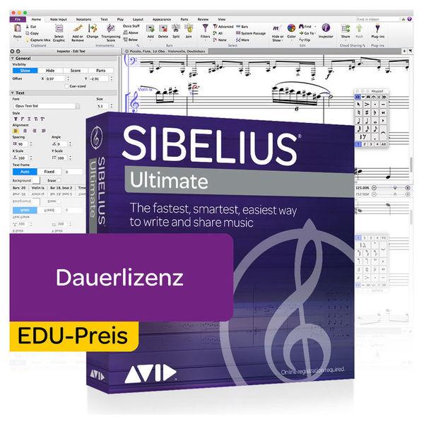 Sibelius Ultimate EDU Avid