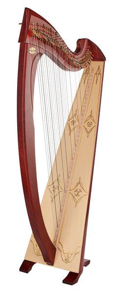 Salvi Una Deluxe Lever Harp Mahogany