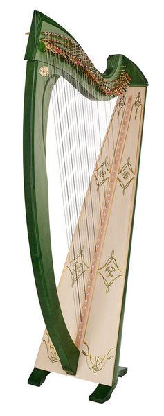 Salvi Una Deluxe Lever Harp Green