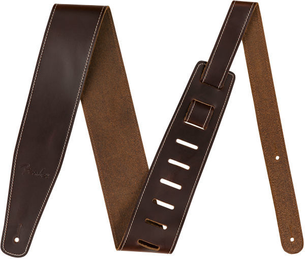 Broken-in Leather Strap Brown Fender