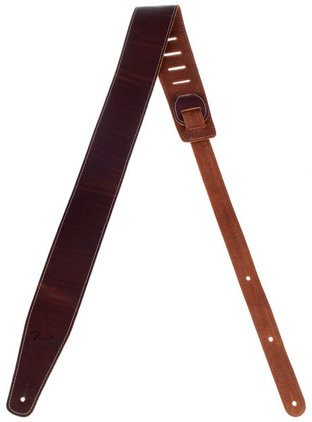 Broken-in Leather Strap Brown Fender