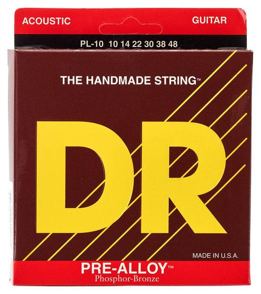 DR Strings Pre-Alloy PL-10 Acoustic Light