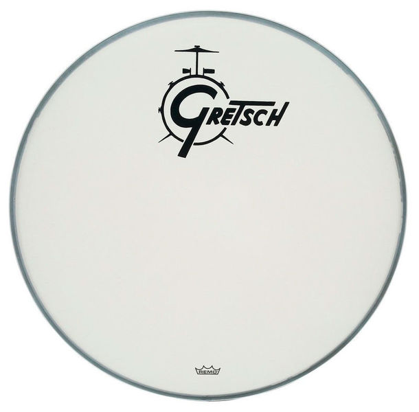 "18"" Bass Drum Head WH w/Logo Gretsch"