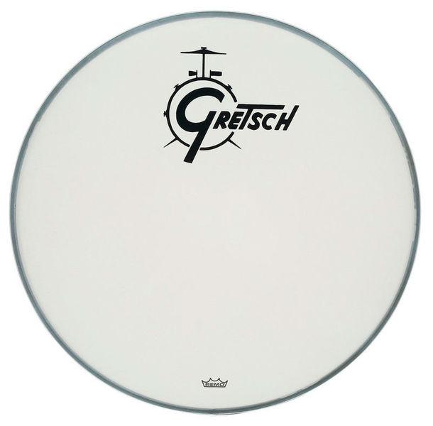 "Gretsch 18"" Bass Drum Head WH w/Logo"