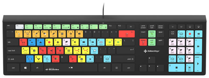 Backlit Key. Studio One WIN DE Editors Keys