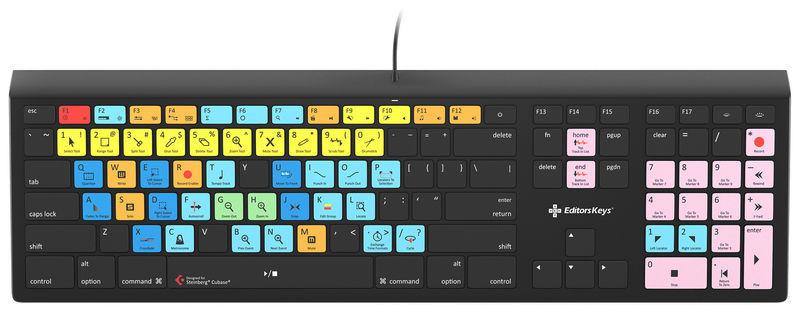 Backlit Keyboard Cubase MAC DE Editors Keys