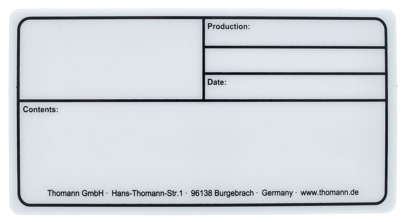 Stairville Tourlabel 150x80mm White