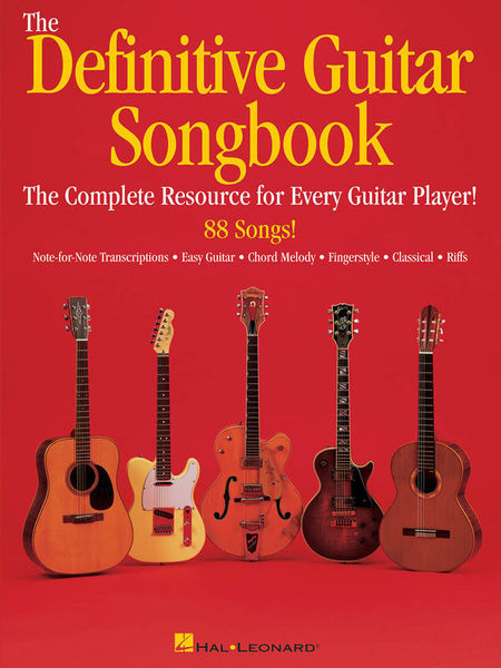 Hal Leonard The Definitive Guitar Songbook