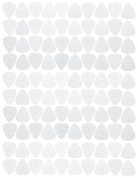 Dunlop Nylon Standard Picks 100/White