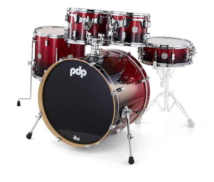 DW PDP CM5 Std. Red/Blk Shell Kit