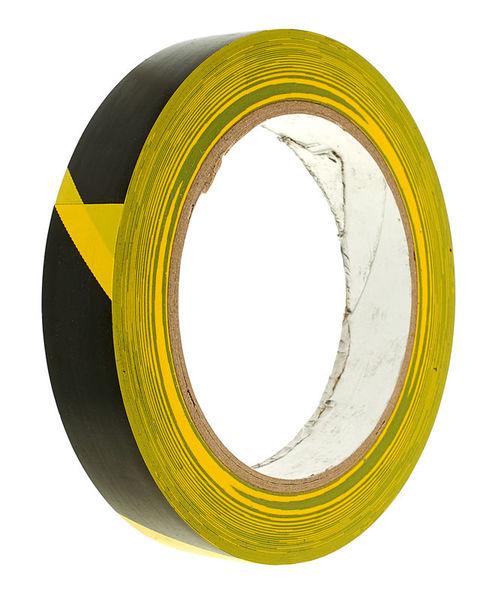 Stairville Warning Tape 19 Black/Yellow