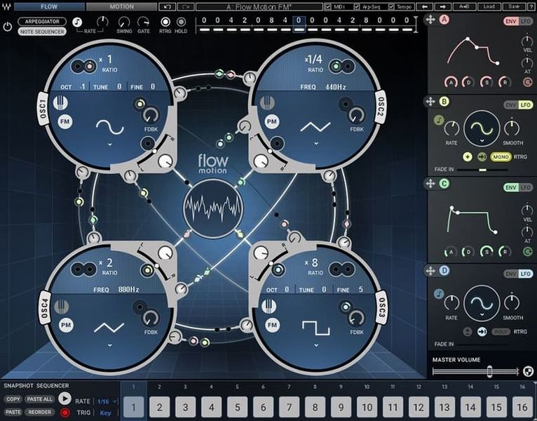 Flow Motion FM Synth Waves