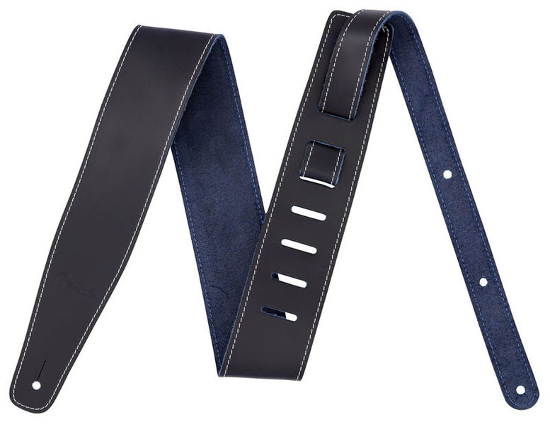 Broken-in Leather Strap Blue Fender