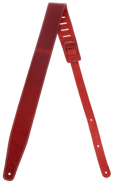 Broken-in Leather Strap Red Fender