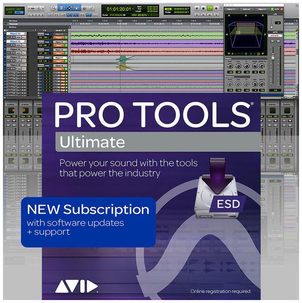 Pro Tools Ultimate 1Y Subscrip Avid