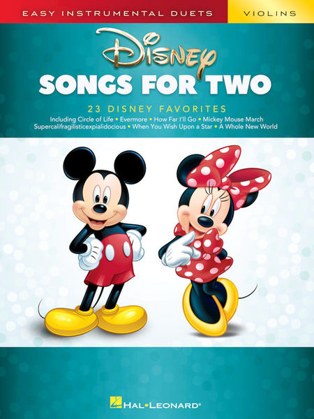 Hal Leonard Disney Songs For Two Violin