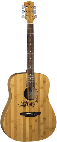 Luna Guitars Woodland Bamboo Dread SN