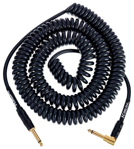 Kirlin Premium Coil Cable 9m Black