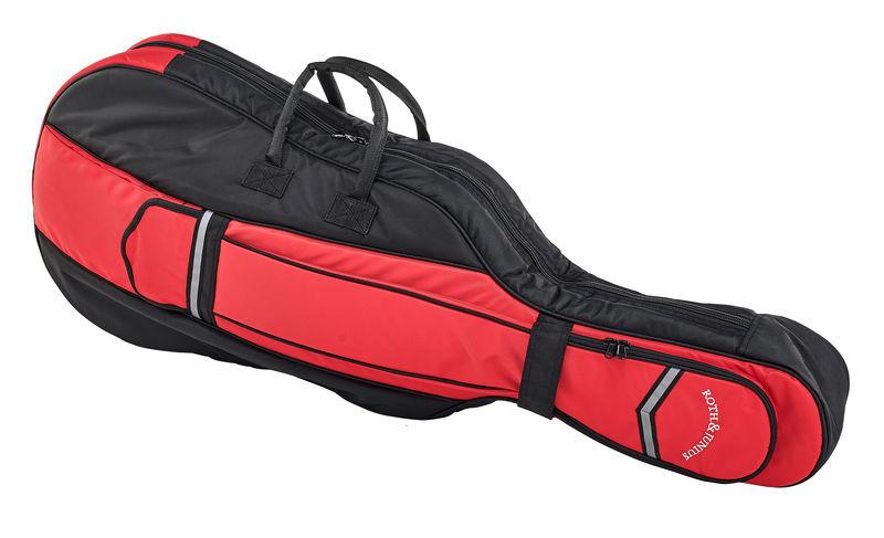 Roth & Junius CSB-01 3/4 BK/RD Cello Bag