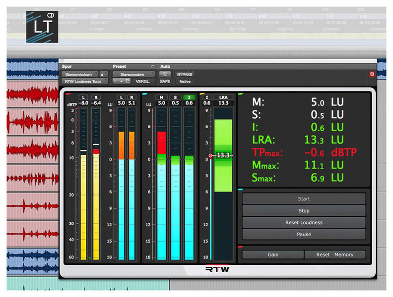 RTW Loudness Tools Stereo