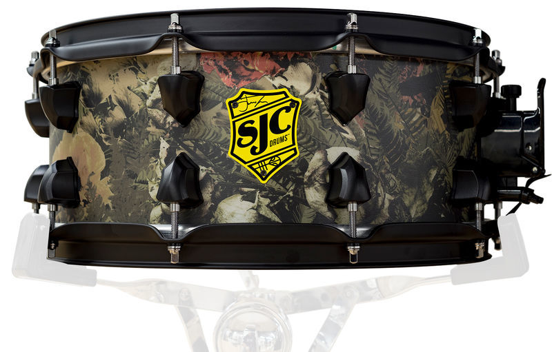"""SJC Drums 14""""x06"""" Trench Camo Snare Drum"""