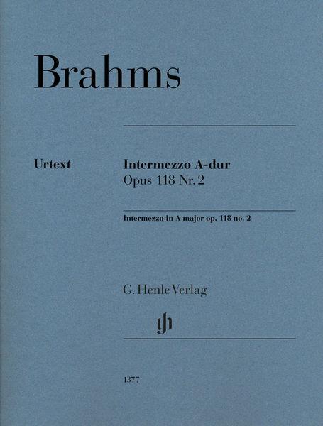 Henle Verlag Brahms Intermezzo A-Dur