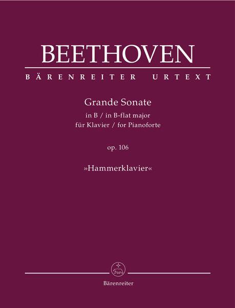 Bärenreiter Beethoven Grande Sonate Piano