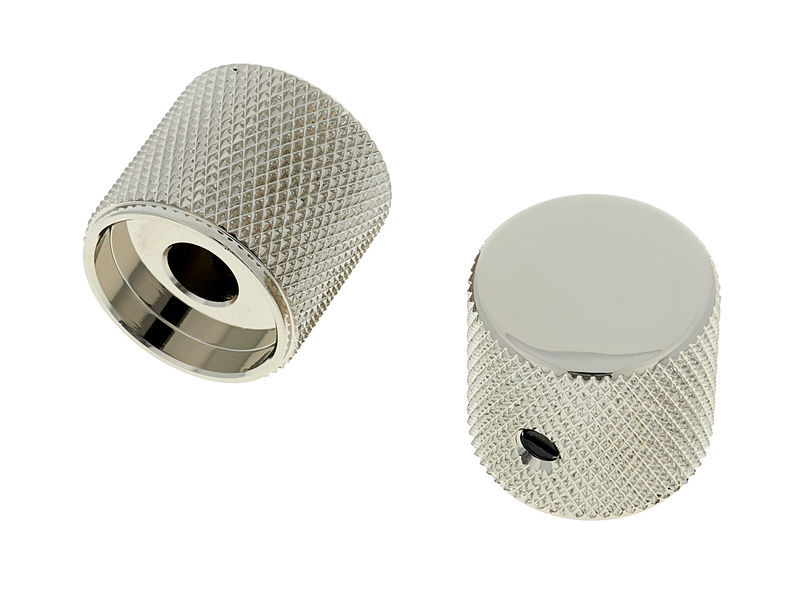 Allparts Metal Barrel Knobs Nickel