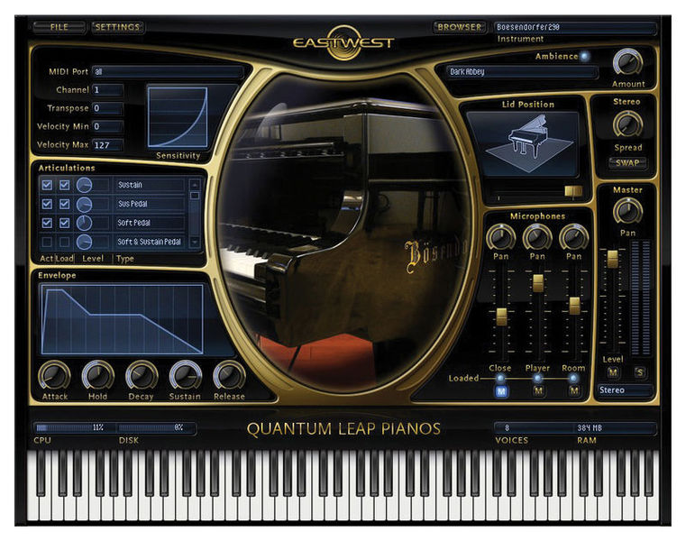 EastWest Bechstein D-280 Gold