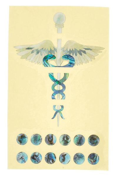 Jockomo Caduceus Inlay Sticker