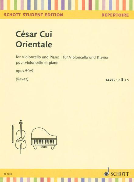 Schott César Cui Orientale Cello