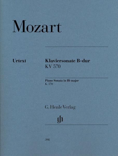 Henle Verlag Mozart Sonate B-Dur KV 570