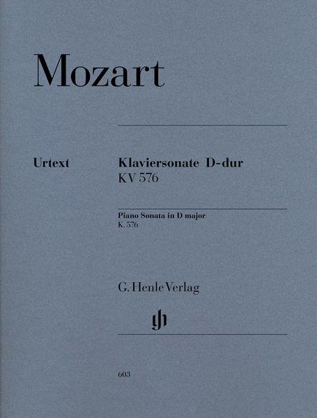 Henle Verlag Mozart Sonate D-Dur KV 576