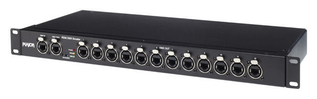 Major DMX-Booster 1in12 RJ45