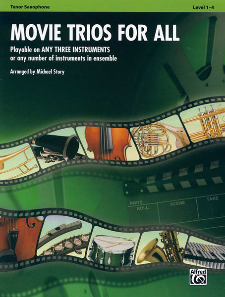 Alfred Music Publishing Movie Trios For All Tenor Sax