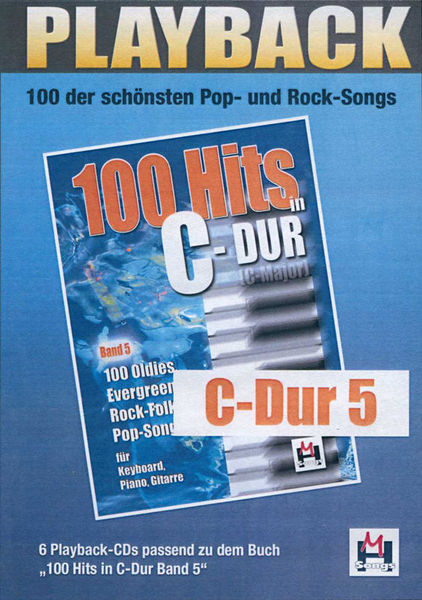 100 Hits C-Dur 5 Playback CDs Musikverlag Hildner