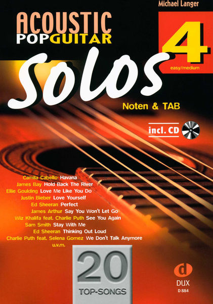 Acoustic Pop Guitar Solos 4 Edition Dux