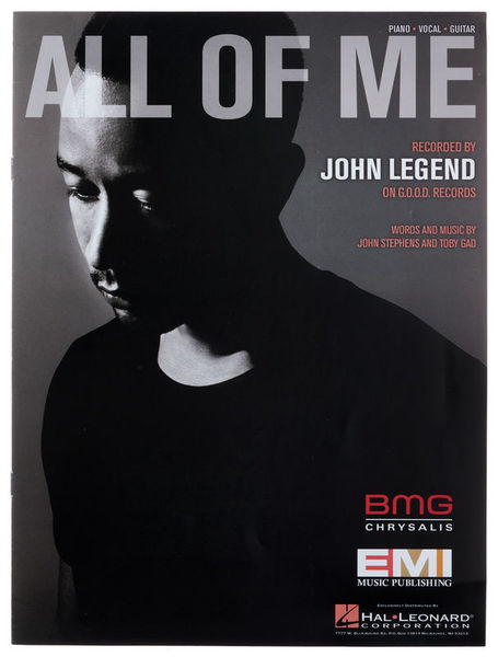 Hal Leonard John Legend All Of Me PVG