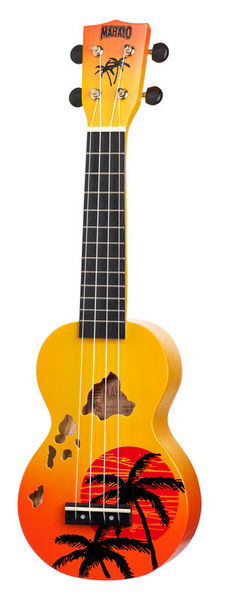 Mahalo Hawaii Orange Ukulele