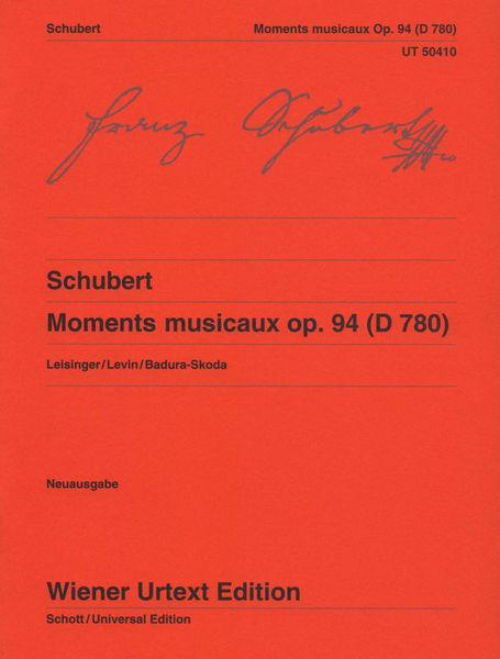 Universal Edition Schubert Moments musicaux