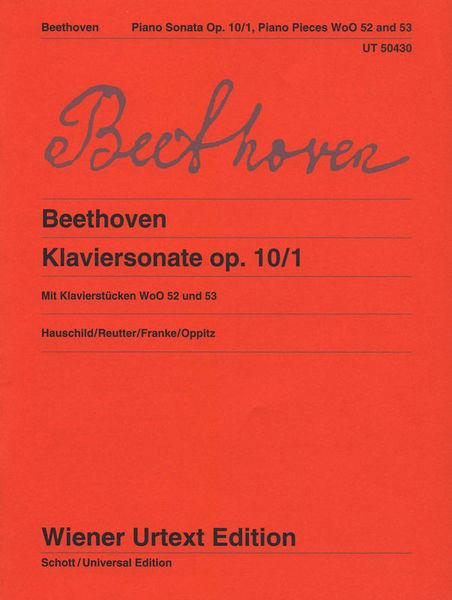 Universal Edition Beethoven Klavierson. op.10/1
