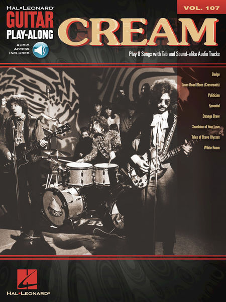 Guitar Play-Along Cream Hal Leonard