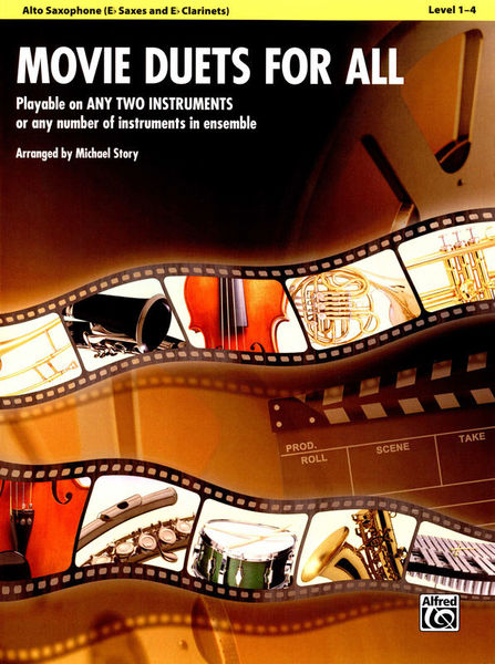 Alfred Music Publishing Movie Duets For All Alto Sax